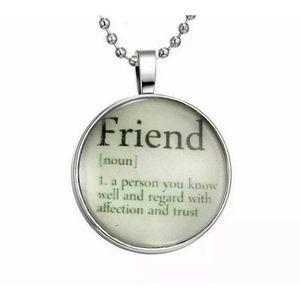 Jewelry - Friend Charm necklace (adjustable size)